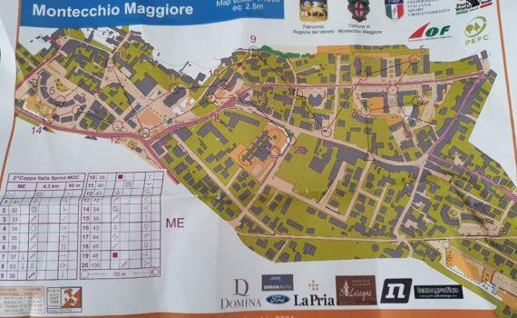 Percorso ME a Montecchio Maggiore